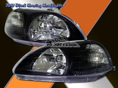 Headlights & Tail Lights - Headlights - Custom - Crystal Head Lights Black