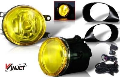 Headlights & Tail Lights - Fog Lights - WinJet - Toyota Yaris WinJet OEM Fog Light - Yellow - Wiring Kit Included - WJ30-0073-12