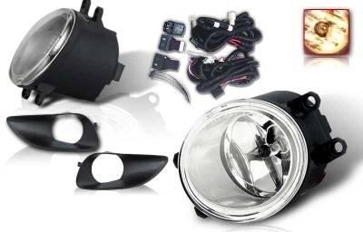 Headlights & Tail Lights - Fog Lights - WinJet - Toyota Yaris WinJet OEM Fog Light - Smoke - Wiring Kit Included - WJ30-0074-11