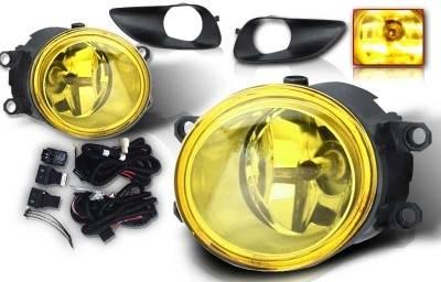 Headlights & Tail Lights - Fog Lights - WinJet - Toyota Yaris WinJet OEM Fog Light - Yellow - Wiring Kit Included - WJ30-0074-12