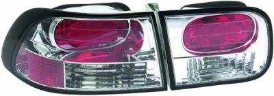 Headlights & Tail Lights - Tail Lights - APC - Honda Civic 2DR & 4DR APC Euro Taillights with Chrome Housing - 404150TLR