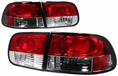 Headlights & Tail Lights - Tail Lights - APC - APC Red and Clear Taillights - 404151TLCR
