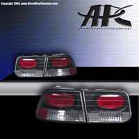 Headlights & Tail Lights - Tail Lights - APC - APC Euro Taillights with Carbon Fiber Housing - 404152TLCF