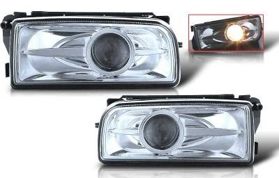 Headlights & Tail Lights - Fog Lights - WinJet - BMW 3 Series WinJet Halo Projector Fog Light - Clear - WJ30-0078-09