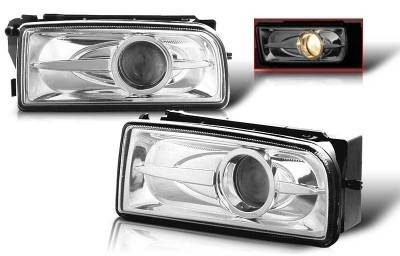 Headlights & Tail Lights - Fog Lights - WinJet - BMW 3 Series WinJet Halo Projector Fog Light - Smoke - WJ30-0078-11
