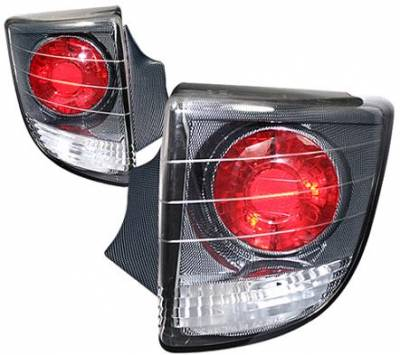 Headlights & Tail Lights - Tail Lights - APC - APC Euro Taillights with Carbon Fiber Housing - Gen 1 Style - 404162TLCF