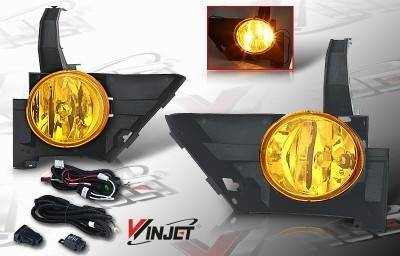 Headlights & Tail Lights - Fog Lights - WinJet - Honda CRV WinJet OEM Fog Light - Yellow - Wiring Kit Included - WJ30-0082-12