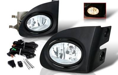 Headlights & Tail Lights - Fog Lights - WinJet - Honda Civic HB WinJet OEM Fog Light - Clear - Wiring Kit Included - WJ30-0084-09
