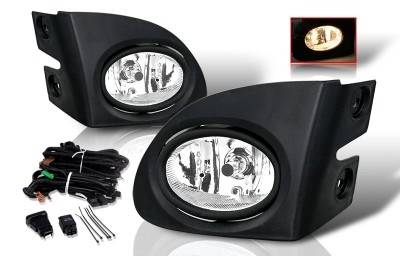 Headlights & Tail Lights - Fog Lights - WinJet - Honda Civic HB WinJet Fog Light - Smoke - Wiring Kit Included - WJ30-0084-11
