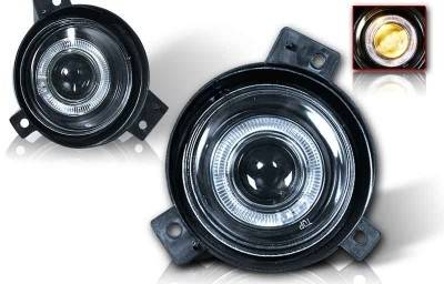 Headlights & Tail Lights - Fog Lights - WinJet - Ford Ranger WinJet Halo Projector Fog Light - Clear - WJ30-0087-09