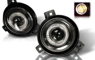 Headlights & Tail Lights - Fog Lights - WinJet - Ford Ranger WinJet Halo Projector Fog Light - Smoke - WJ30-0087-11