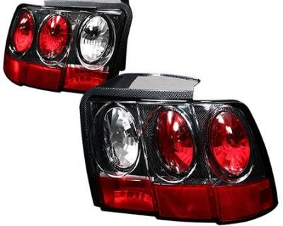 Headlights & Tail Lights - Tail Lights - APC - APC Euro Taillights with Carbon Fiber Housing - Gen 2 Style - 404548TLCF