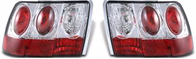 Headlights & Tail Lights - Tail Lights - APC - APC Chrome Taillights - Gen 2 Style - 404548TLR