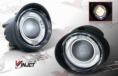 Headlights & Tail Lights - Fog Lights - WinJet - Nissan Murano WinJet Halo Projector Fog Light - Clear - WJ30-0092-09