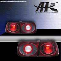Headlights & Tail Lights - Tail Lights - APC - APC Euro Taillights with Carbon Fiber Housing - Next Generation - 404552TLCF