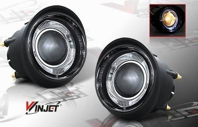 Headlights & Tail Lights - Fog Lights - WinJet - Nissan Murano WinJet Halo Projector Fog Light - Smoke - WJ30-0092-11