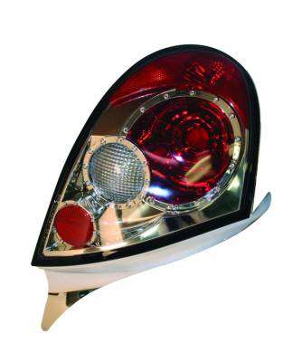 Headlights & Tail Lights - Tail Lights - APC - Dodge Neon APC Euro Taillights with Chrome Housing - Next Generation - 404577TLR