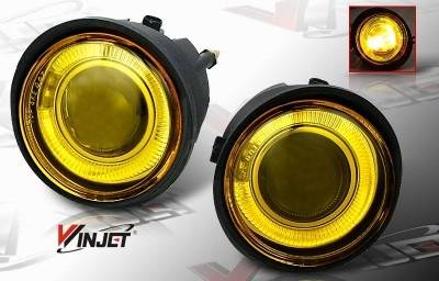 Headlights & Tail Lights - Fog Lights - WinJet - Nissan Murano WinJet Halo Projector Fog Light - Yellow - WJ30-0092-12