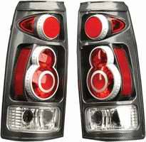 Headlights & Tail Lights - Tail Lights - APC - APC 3D Retro Taillights with Carbon Fiber Housing - 404710TLCF