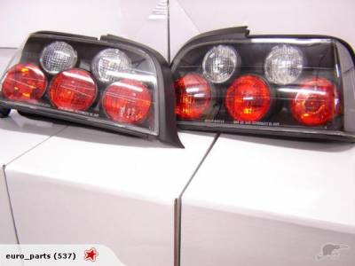 Headlights & Tail Lights - Tail Lights - Custom - Euro Tail Lights - Black