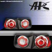 Headlights & Tail Lights - Tail Lights - APC - APC 3D Retro Black Taillights - 4PC - 404752TLB