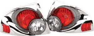 Headlights & Tail Lights - Tail Lights - APC - APC 3D Retro Chrome Taillights - 404772TLR