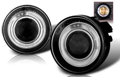 Headlights & Tail Lights - Fog Lights - WinJet - Dodge Durango WinJet Halo Projector Fog Light - Smoke - WJ30-0095-11