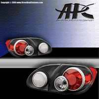 Headlights & Tail Lights - Tail Lights - APC - APC 3D Retro Taillights with Carbon Fiber Housing - 404812TLCF