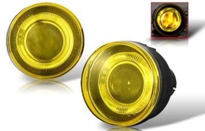 Headlights & Tail Lights - Fog Lights - WinJet - Dodge Durango WinJet Halo Projector Fog Light - Yellow - WJ30-0095-12