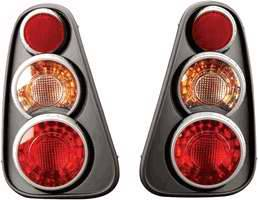 Headlights & Tail Lights - Tail Lights - APC - APC 3D Retro Black Taillights - 404818TLB