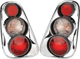 Headlights & Tail Lights - Tail Lights - APC - APC 3D Retro Chrome Taillights - 404818TLR