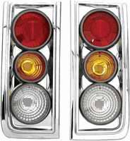 Headlights & Tail Lights - Tail Lights - APC - APC 3D Retro Chrome Taillights - 404823TLR