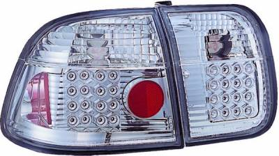 Headlights & Tail Lights - Led Tail Lights - APC - Honda Civic 4DR APC LED Taillights with Clear Lens - 406271TL