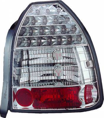 Headlights & Tail Lights - Led Tail Lights - APC - Honda Civic HB APC LED Taillights with Clear Lens - 406275TL