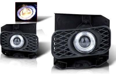Headlights & Tail Lights - Fog Lights - WinJet - Ford F150 WinJet Halo Projector Fog Light - Clear - WJ30-0100-09