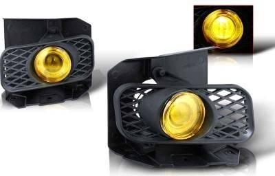 Headlights & Tail Lights - Fog Lights - WinJet - Ford F150 WinJet Halo Projector Fog Light - Yellow - WJ30-0100-12