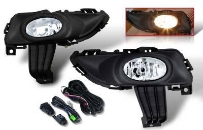 Headlights & Tail Lights - Fog Lights - WinJet - Mazda 3 WinJet OEM Fog Light - Clear - Wiring Kit Included - WJ30-0101-09
