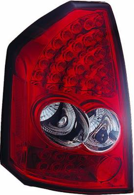 Headlights & Tail Lights - Led Tail Lights - APC - Chrysler 300 APC LED Taillights with Red & Clear Lens - 406815TLR