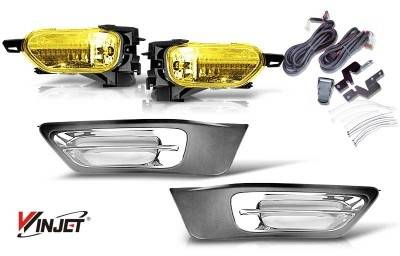 Headlights & Tail Lights - Fog Lights - WinJet - Honda CRV WinJet OEM Fog Light - Yellow - Wiring Kit Included - WJ30-0105-12