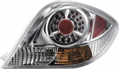 Headlights & Tail Lights - Tail Lights - APC - Hyundai Tiburon APC Diamond Cut Taillights with Chrome Housing - 407504TLC
