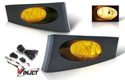 Headlights & Tail Lights - Fog Lights - WinJet - Honda Fit WinJet OEM Fog Light - Yellow - Wiring Kit Included - WJ30-0106-12