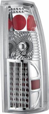 Headlights & Tail Lights - Tail Lights - APC - GMC CK Truck APC Diamond Cut Taillights with Chrome Housing - 407507TLC