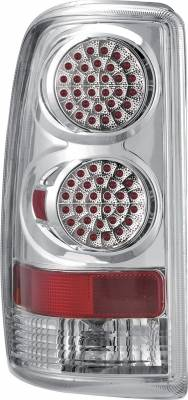 Headlights & Tail Lights - Tail Lights - APC - Chevrolet Suburban APC Diamond Cut Taillights with Chrome Housing - 407508TLC