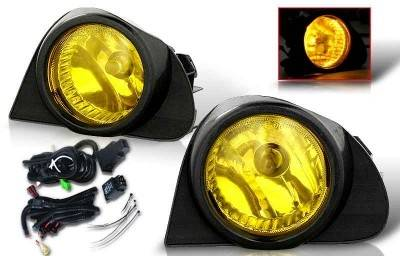 Headlights & Tail Lights - Fog Lights - WinJet - Scion xA WinJet OEM Fog Light - Yellow - Wiring Kit Included - WJ30-0107-12