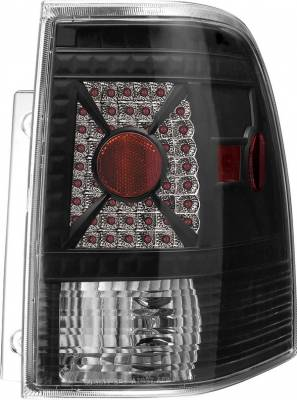Headlights & Tail Lights - Tail Lights - APC - Ford Expedition APC Diamond Cut Taillights with Black Housing - 407512TLB