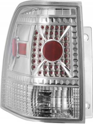 Headlights & Tail Lights - Tail Lights - APC - Ford Expedition APC Diamond Cut Taillights with Chrome Housing - 407512TLC