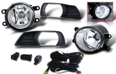 Headlights & Tail Lights - Fog Lights - WinJet - Toyota Camry WinJet OEM Fog Light - Clear - Wiring Kit Included - WJ30-0109-09