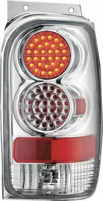 Headlights & Tail Lights - Tail Lights - APC - Mercury Mountaineer APC Diamond Cut Taillights with Chrome Housing - 407515TLC