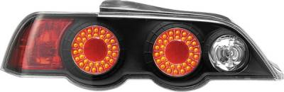 Headlights & Tail Lights - Tail Lights - APC - Acura RSX APC Diamond Cut Taillights with Black Housing - 407527TLB