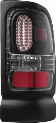 Headlights & Tail Lights - Tail Lights - APC - Dodge Ram APC Diamond Cut Taillights with Black Housing - 407536TLB